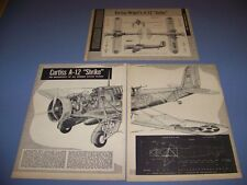 "VINTAGE..CURTISS A-12 ""SHRIKE""...CUTAWAY/4-VIEWS/LEGEND...RARE! (544)"