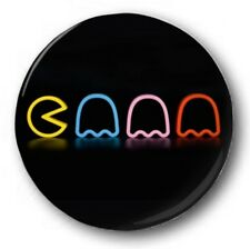 Pacman neon - 2.5cm/25mm button badge-novelty cute arcade 80's