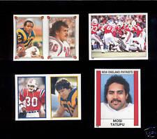 1985-1988 Topps Panini MOSI TATUPU New England Patriots Sticker Lot