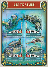 Niger 2016 MNH Turtles 4v M/S Tortues Leatherback Sea Turtle Reptiles Stamps