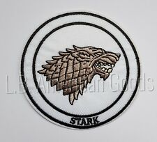 Game of Thrones STARK House Wappen Logo Aufnäher Patch 7,9 x 7,9 cm