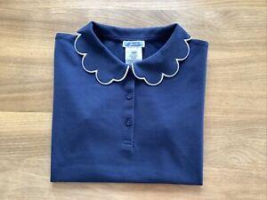Jacadi Polo Shirt mit Blütenkragen , 12 Jahre, Navyblau, Wie Neu