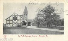 1907 St Paul's Episcopal Church, Riverside, Illinois Postcard