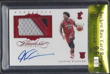JUSTICE WINSLOW 2015-16 FLAWLESS RUBY 3 CLR PATCH AUTO RC /15 BGS 9.5 10 POP 1/1