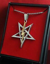 Church of Satan Sigil of Anton LaVey - Stainless Steel (316L) - 18k Gold