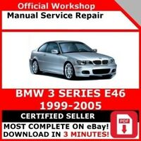 # FACTORY WORKSHOP SERVICE REPAIR MANUAL BMW 3 SERIES E46 1999-2005