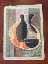 Original Pastel & Chalk Modern Still Life Signed G. Braque Modernist Modernism