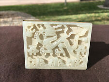Chinese Antique White Jade Matchbox with Finely Carved Dragon