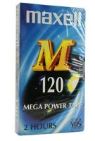 MAXELL E-120  Cassette VHS  Video Vierge (Réf#N-017)