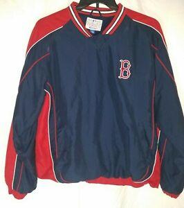 Boston Red Sox Mens M Medium V Neck Pullover Blue Genuine MLB
