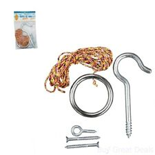 Tiki Toss Original Hook and Ring Game Essentials Includes Hook Ring Mounting