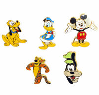 Disney Trade Pins DTP Mickey Mouse Goofy Pluto Donald Duck Tiger Mixed Lot of 5