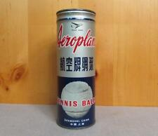 Vintage Aeroplane Tennis Ball Can 2 Balls Advertising Great Graphics! Shanghai
