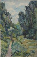 Daniel DUVILLE  - Lyons-la-Forêt -  Aquarelle vers 1950