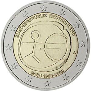 2 euros 2009 ALLEMAGNE 10e anniversaire Union économique  monétaire PROMO AVRIL