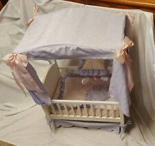 AMERICAN GIRL Bitty Baby DOLL CRIB with Canopy Bedding and Mobile & Bitty Baby Crib | eBay