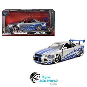 Jada 1:24 - Fast & Furious - 2002 Nissan Skyline GT-R34 Brian's (Silver) #97158