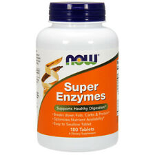 Super Enzymes, 180 Comprimés - Now Foods - Favorise de Sains Digestion