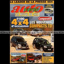 AUTO VERTE N°271 AUDI ALLROAD V8 GMC ANVOY LADA NIVA CADILLAC SRX X-TRAIL 2003