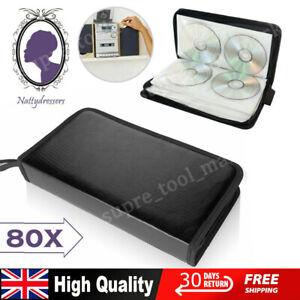 Portable 80 x Disc CD VCD DVD Carry Bag Car Storage Holder Case Wallet Organizer