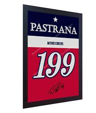 Travis Pastrana Nitro Circus Jersey signed PRINTED on CANVAS 100% COTTON FRAMED