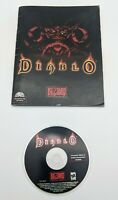 Diablo PC Game Disc + Manual Blizzard Entertainment 1996 Good Condition TESTED