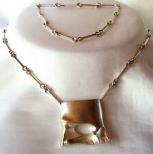 Lapponia Kette 925 Silber Finnland 1984 Collier Modernist / BY 905