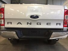 RANGER Rear Tailgate Sticker Decal. 2 Colour. Charcoal Grey Black Outline. 12-19