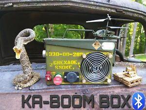 Ammo Can Speaker KA-BOOM BOX Stereo Bluetooth