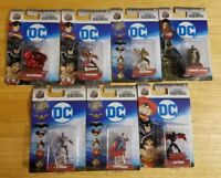 "DC Nano Metalfigs 100% Die-Cast Metal 1.5"" NEW COLLECTABLE FIGURES (LOT OF 7)"