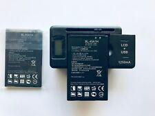 BATTERY OR/& LCD CHARGER FOR LG K10 L62VL L61AL PREMIER LTE BL-45A1H USA SELLER