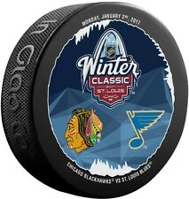 St. Louis Blues Chicago Blackhawks 2017 NHL Winter Classic Souvenir Hockey Puck