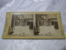 CLEARING OFF THE TABLE IN A HURRY GENRE AND COMIC STERIEOVIEW CARD ANTIQUE    T*