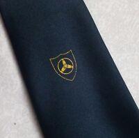 Vintage Tie Mens Necktie SHIELD CRESTED Club Association Society ROTOR BLADE