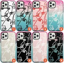 Abstract Continuous Line Faces Impact Phone Case for iPhone | Unique Drawing Por