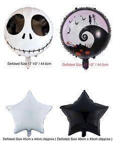 Nightmare Before Christmas Balloon Jack Skellington Sally Party Decoration