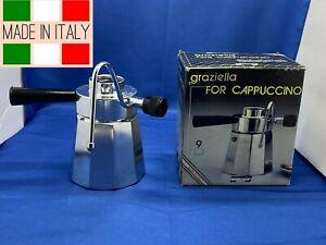 Vintage Graziella Stovetop Espresso Cappuccino Maker 9 Cups ~ Brevetti Bialetti