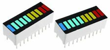 2 x 10 Segment LED Multicolour Bargraph LED Light Display Red Yellow Green Blue