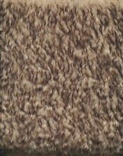 Schulte Mohair Langhaar gekräuselt gespitzt - beige braune Spitzen  25 x 70 cm