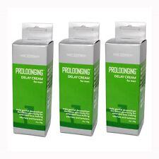 3 PK Doc Johnson Proloonging Prolong Delay Cream Desensitizer Lube 2 oz
