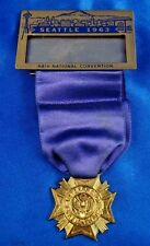 1963 VFW 64th National Convention Seattle WA Medal Ribbon Bastian Bros. Co