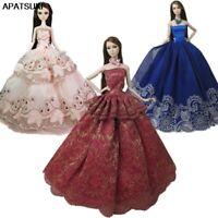 """3pcs/lot Random Fashion Doll Clothes For 11.5"""" Doll Princess Wedding Dress 1/6"""