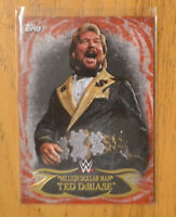 Million Dollar Man Ted Dibiase 2015 Topps WWE Undisputed Red Parallel Base Card