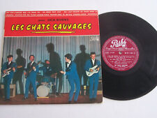 LP 33 TOURS VINYLE 25 CM , LES CHATS SAUVAGES ( DICK RIVERS ) . VG / EX .