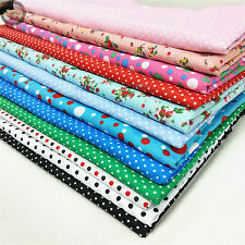 Polka Dots Floral Printed Fabric Craft Quilting Sewing Like Cotton Prints Dress