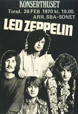 Led Zeppelin - Konserthuset - Plant / Page / Bonham Jones Laminated F/S 1970