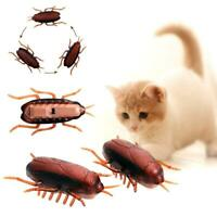 Electronic Cockroach Vibrating crawling pet toy training toy Favor pet acti Q3L6