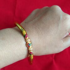 Bracelet rubber Call money Lp Lek Yant Thai amulet Talisman For Charm Fortune