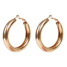 1 Pair Women Fashion Geometric Big Round Circle Hoop Earrings Statement Jewelry