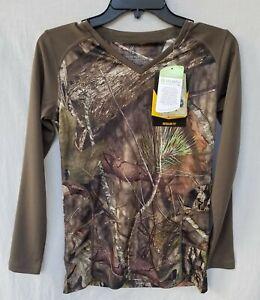 New Women's Browning Big Game LS Hunting Tee Shirt 897 3015532801 Mossy Oak Camo